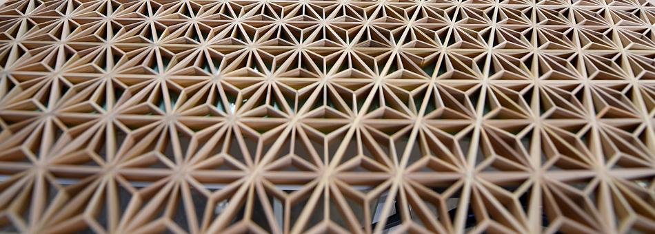 Kumiko woodwork technique