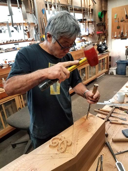 Hiroshi Sakaguchi carving